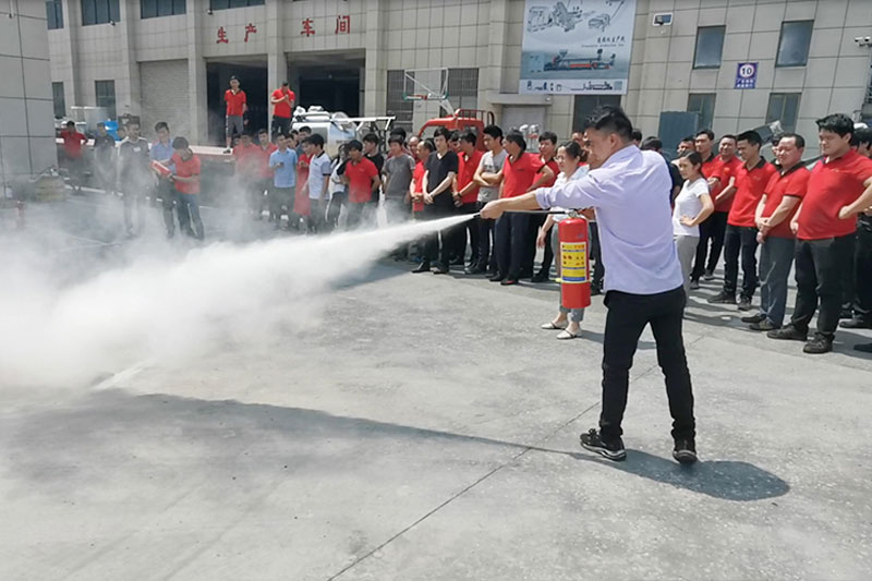 gong司组织消防yan习